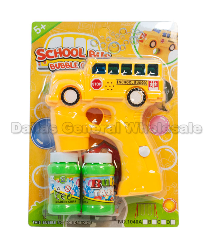 Yellow Bus Bubble Blaster Guns Wholesale - Dallas General Wholesale