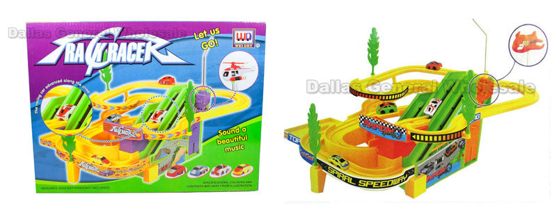 Toy B/O Race Tracks with Helicopter Wholesale - Dallas General Wholesale