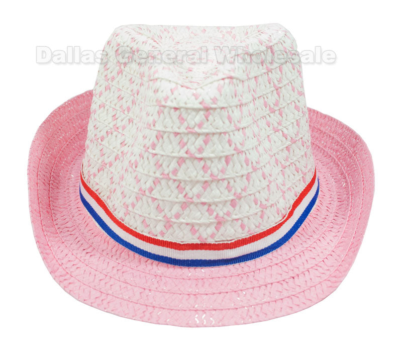 Little Kids Straw Dress Hats Wholesale - Dallas General Wholesale