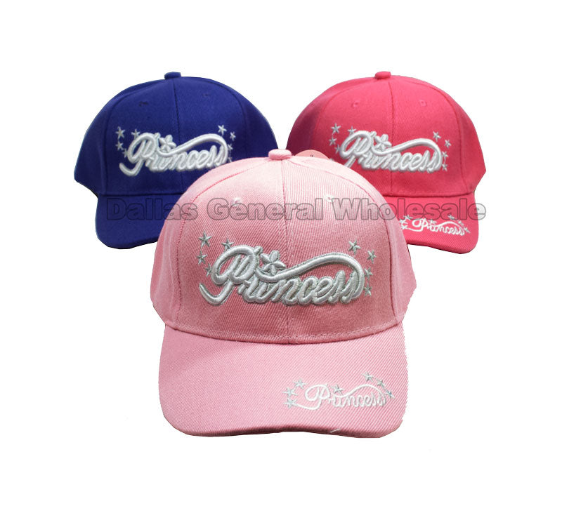 Girls Princess Casual Caps Wholesale - Dallas General Wholesale