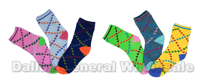 Little Girls Cute Crew Socks Wholesale - Dallas General Wholesale