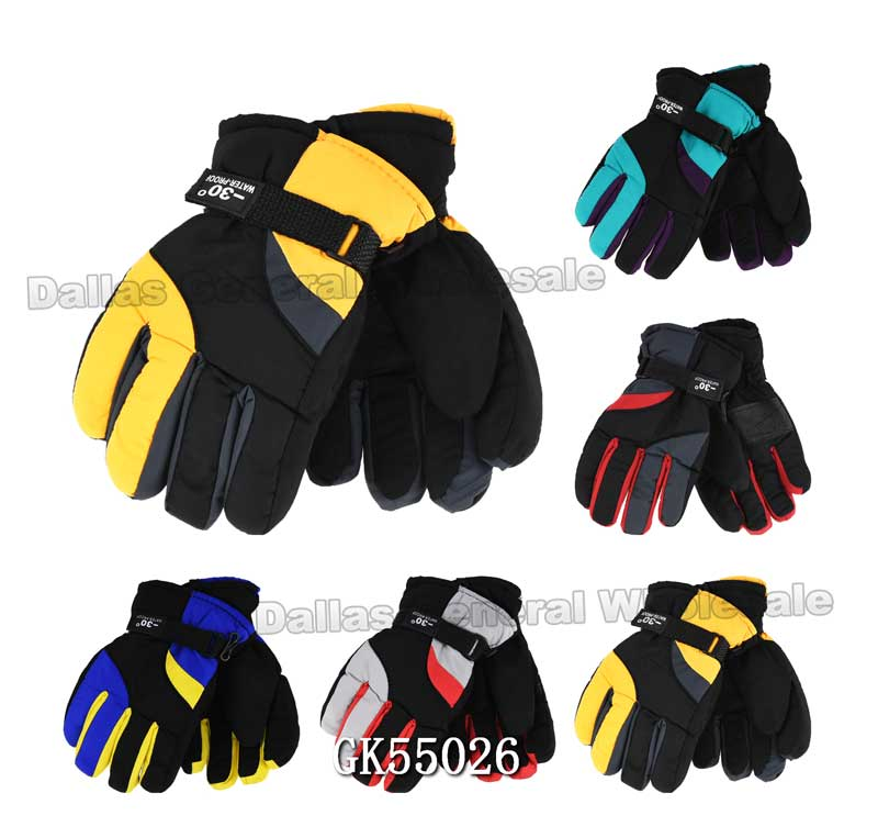 Kids Winter Casual Outdoors Gloves Wholesale - Dallas General Wholesale
