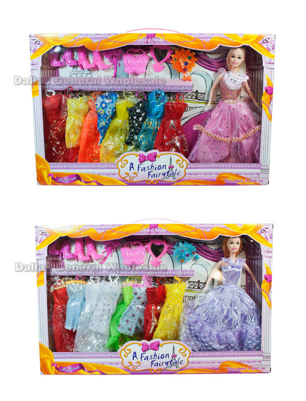 16 PC Girls Fashion Doll Closet Play Set Wholesale - Dallas General Wholesale