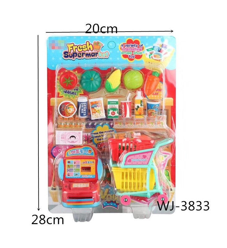 16 PC Grocery Shop Play Set Wholesale - Dallas General Wholesale