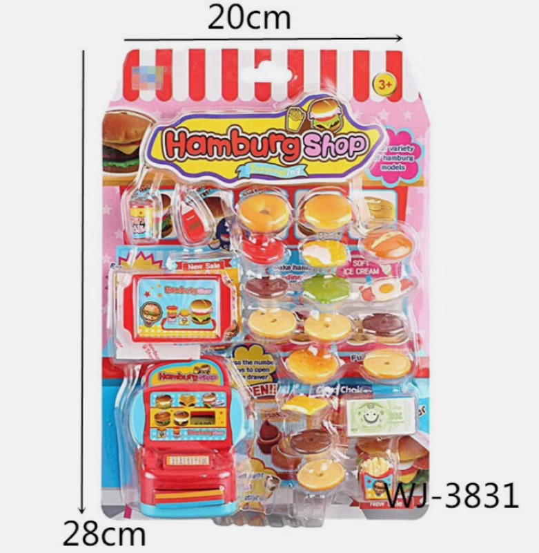 22 PC Burger Shop Play Set Wholesale - Dallas General Wholesale