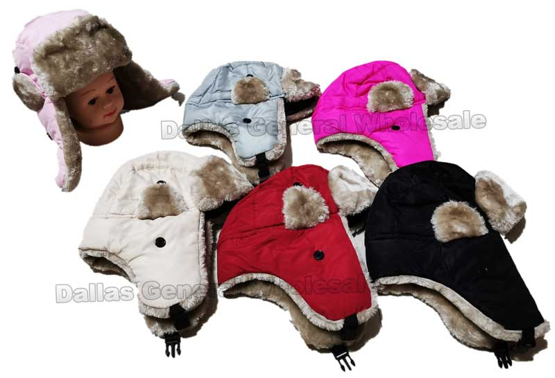 Kids Insulated Bomber Aviator Hats Wholesale - Dallas General Wholesale