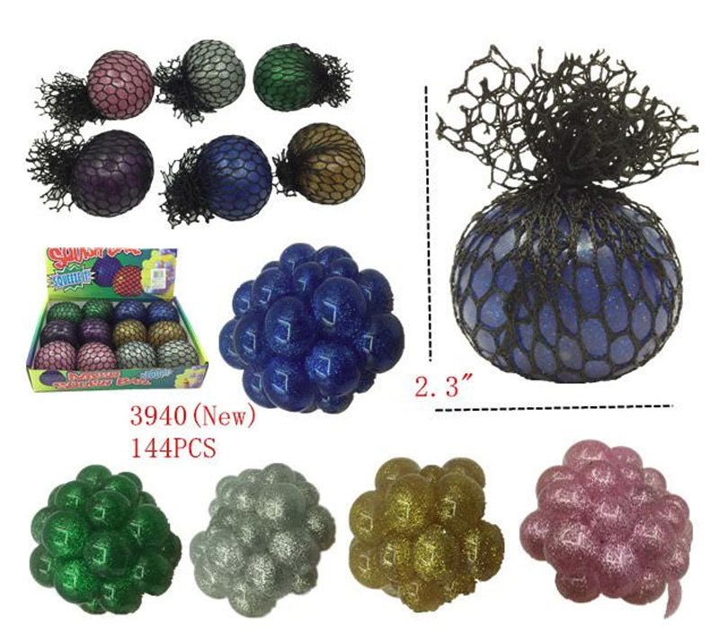 Glitter Mesh Squishy Balls Wholesale - Dallas General Wholesale