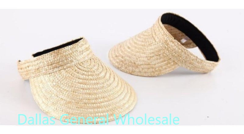Casual Straw Visor Caps Wholesale - Dallas General Wholesale