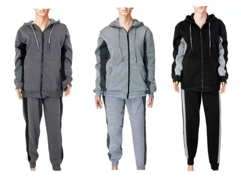 Fleece Lining Active Hoodie with Pants Wholesale - Dallas General Wholesale