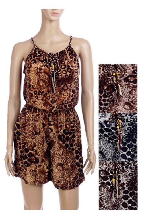 Animal Print Girls Fashion Rompers Wholesale - Dallas General Wholesale