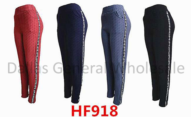 Textured Fur Insulated Work Out Leggings Wholesale