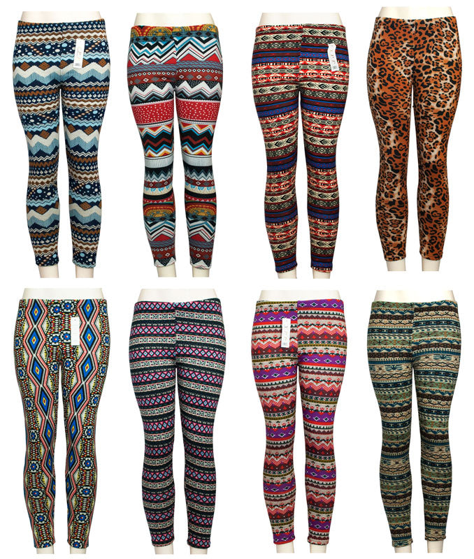 Assorted Ladies Fashion Pull On Thermal Leggings Wholesale - Dallas General Wholesale