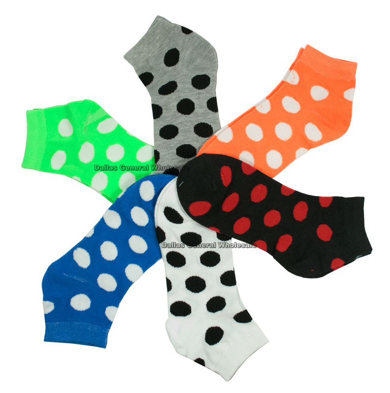 Ladies Printed Ankle Socks Wholesale - Dallas General Wholesale