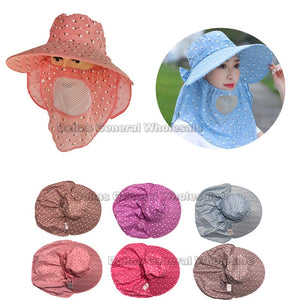 Ladies Whole Coverage Sun Hats with Filter Wholesale