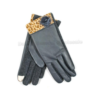 Ladies Fashion Cheetah Insulated Gloves Wholesale - Dallas General Wholesale