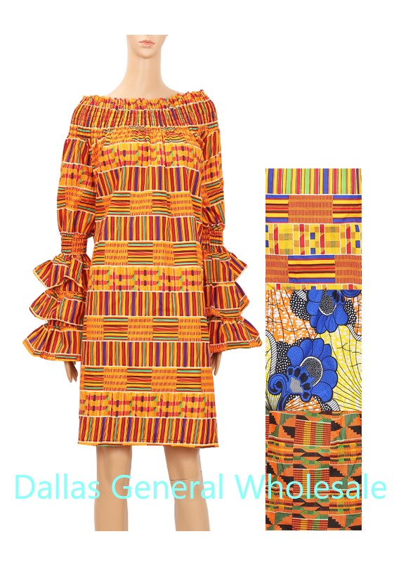 African Kaftan Short Dresses Wholesale