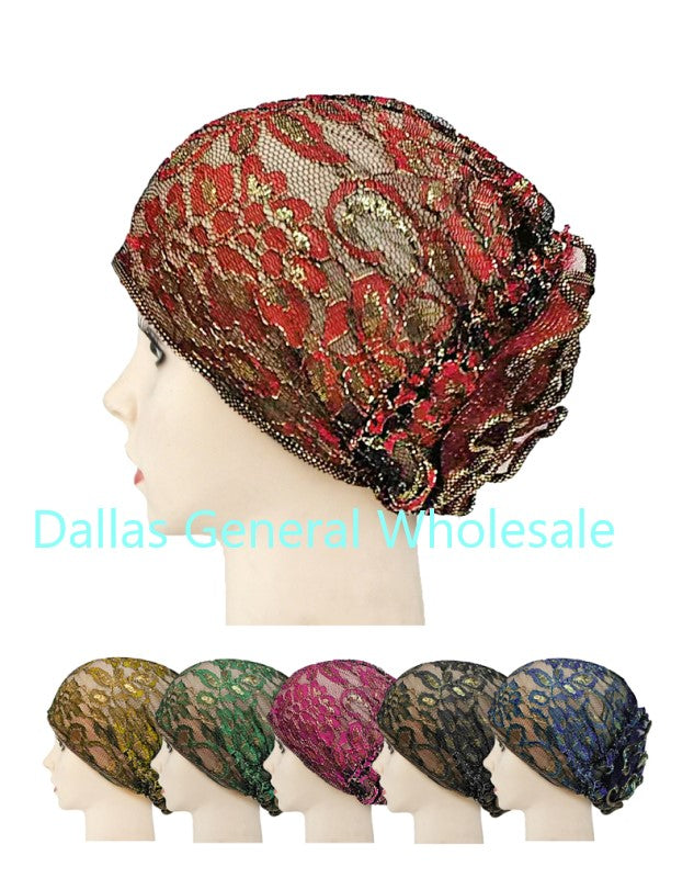 Lace Chemo Head Wrap Hats Wholesale