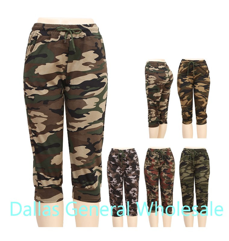Girls Camouflage Jogger Capris Wholesale