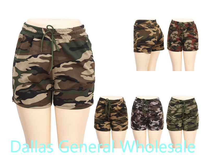 Girls Casual Camouflage Shorts Wholesale