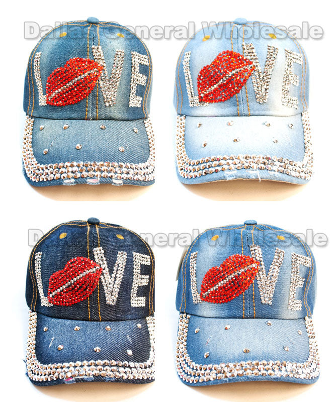 "Ladies ""LOVE"" Fashion Denim Caps Wholesale - Dallas General Wholesale"