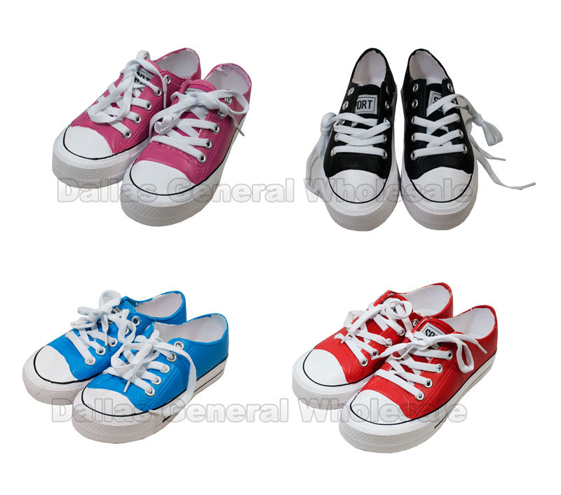 Girls PVC Sneakers Wholesale - Dallas General Wholesale
