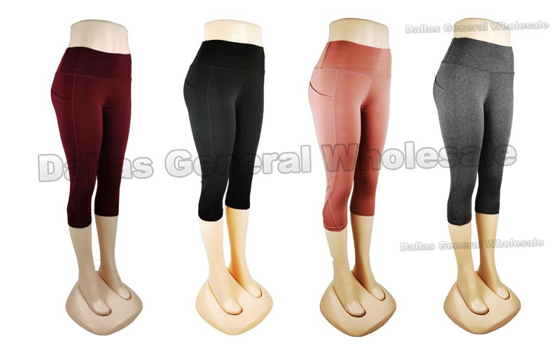 Ladies Active Capris with Pockets Wholesale - Dallas General Wholesale