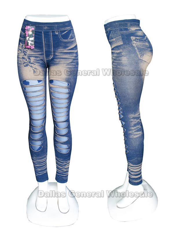 Girls Casual Cut Out Leggings Wholesale