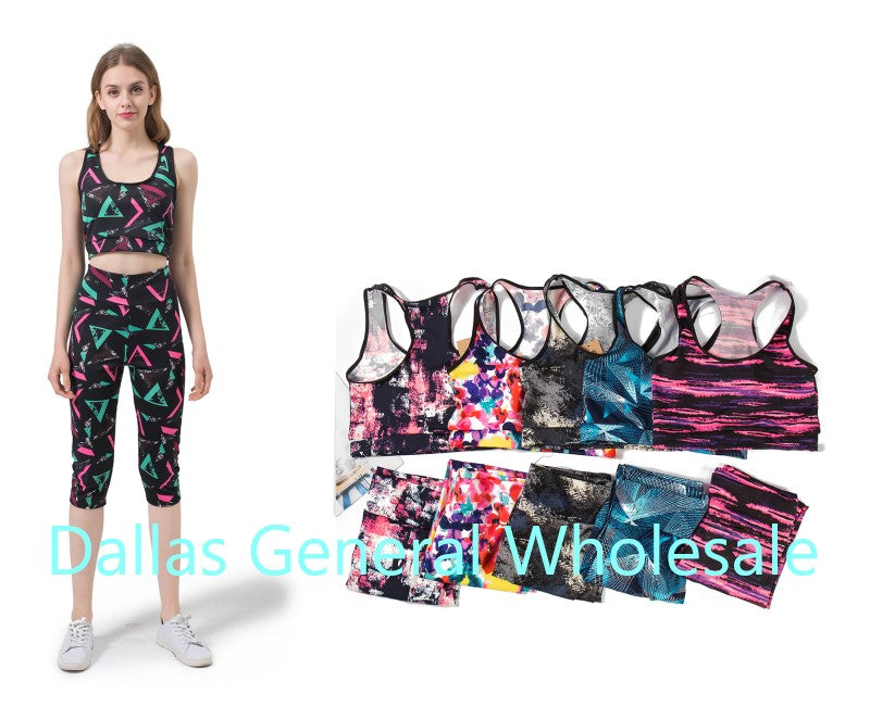 Active Bra Top w/ Capris Sets Wholesale - Dallas General Wholesale