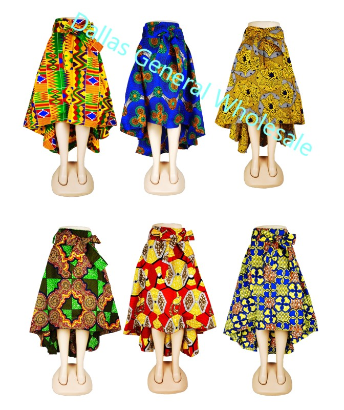 Dashiki Low High Skirts Wholesale - Dallas General Wholesale