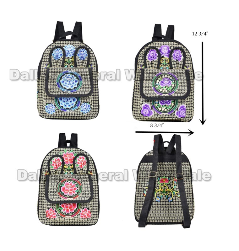Cultural Floral Backpacks Wholesale
