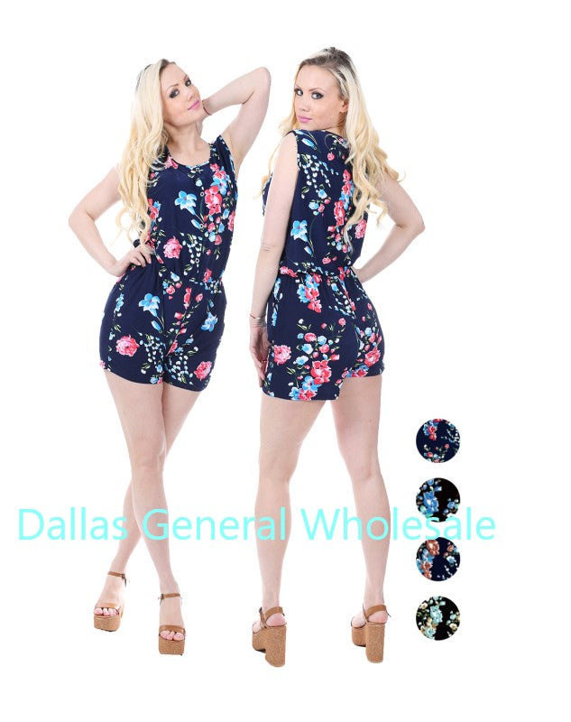 Floral Rompers Wholesale - Dallas General Wholesale
