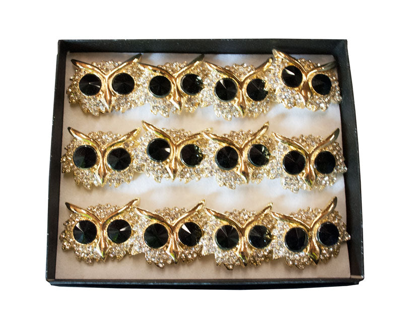Studded Owls Fashion Rings Wholesale - Dallas General Wholesale