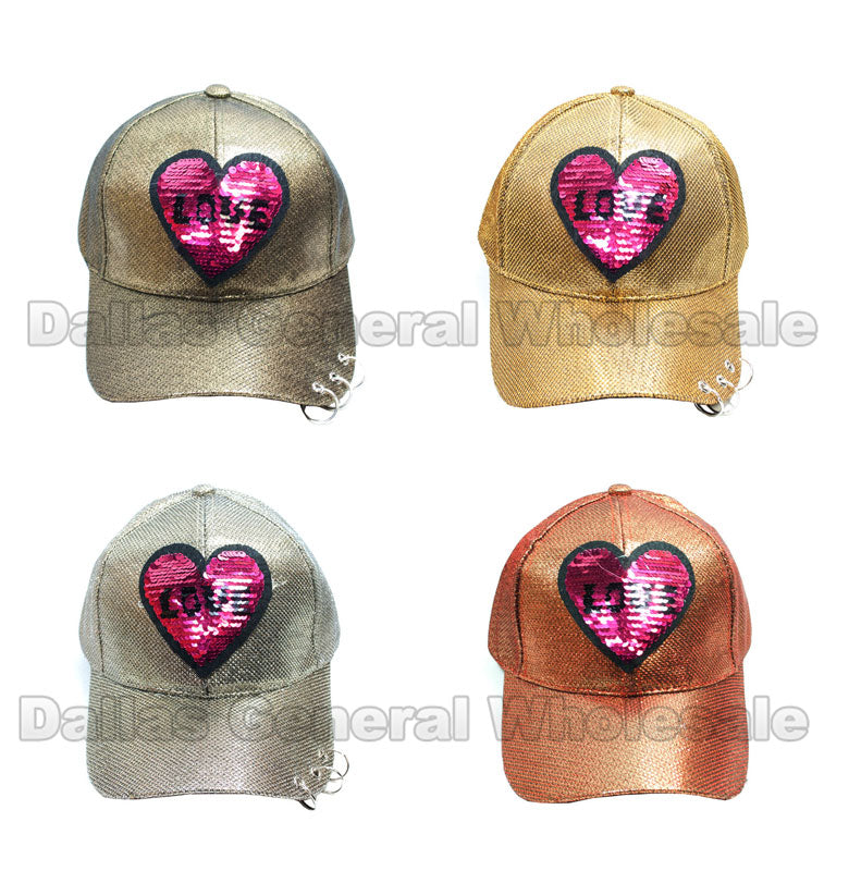 Reversible Sequins LOVE Fashion Caps Wholesale - Dallas General Wholesale