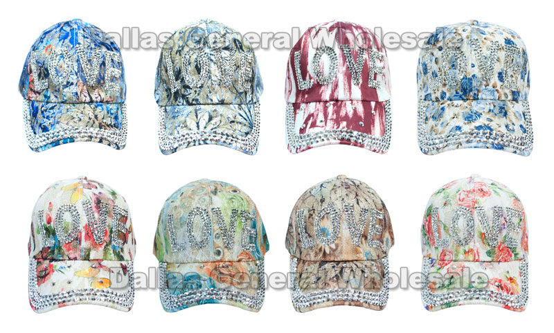 Ladies Fashion Bling Bling Love Caps Wholesale - Dallas General Wholesale
