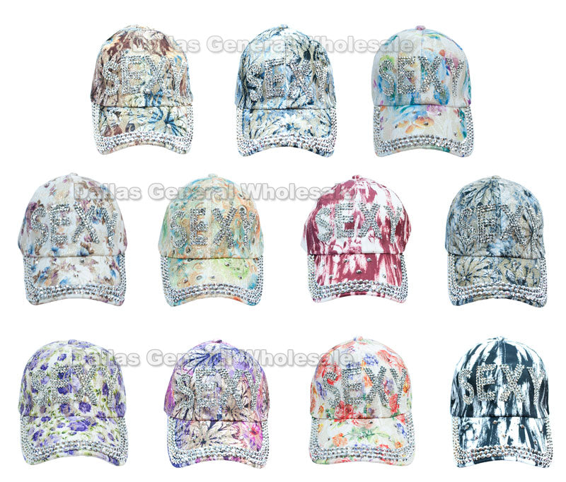 Ladies Fashion Bling Bling SEXY Caps Wholesale - Dallas General Wholesale