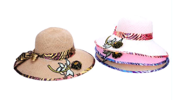 Big Flower Patch Beach Hats Wholesale - Dallas General Wholesale