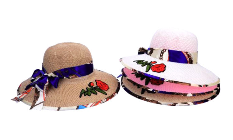 Big Rose Beach Hats Wholesale - Dallas General Wholesale