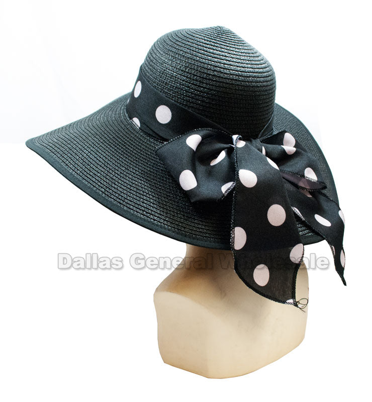 Ladies Summer Floppy Straw Hats Wholesale - Dallas General Wholesale