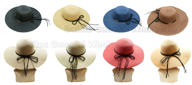 Ladies Beach Floppy Straw Hats Wholesale - Dallas General Wholesale