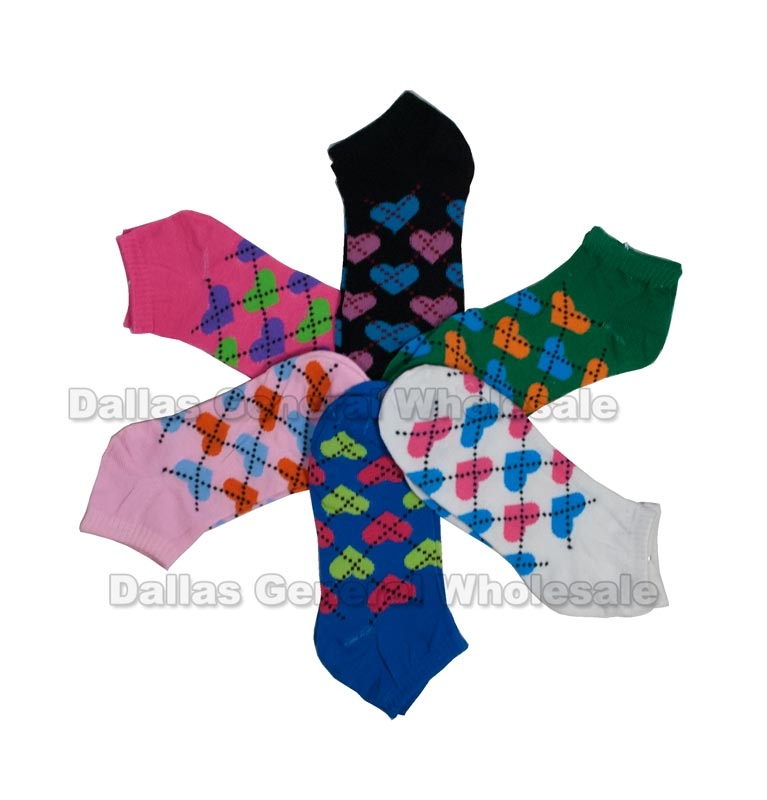 Girls Plaid Low Cut Socks Wholesale