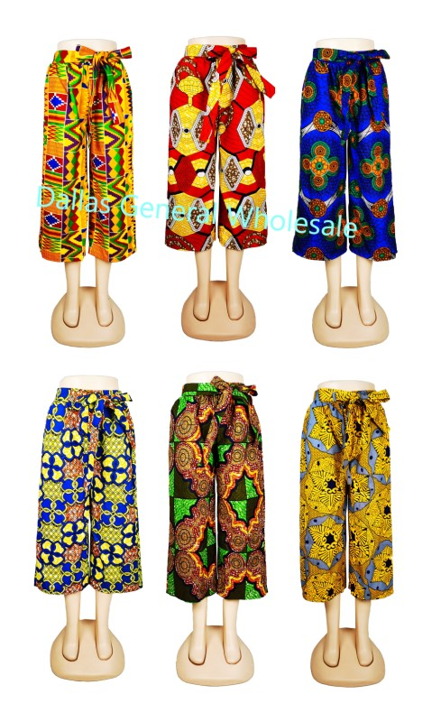 Ladies Dashiki Palazzo Capris Pants Wholesale - Dallas General Wholesale