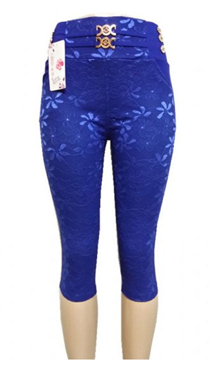 Girls Lace Design Pull On Capris Wholesale - Dallas General Wholesale