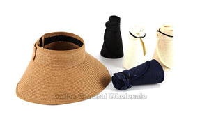 Ladies Foldable Straw Hats Wholesale