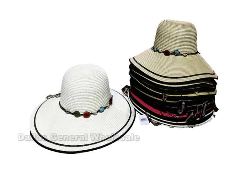 Women's Beach Floppy Straw Hats Wholesale - Dallas General Wholesale