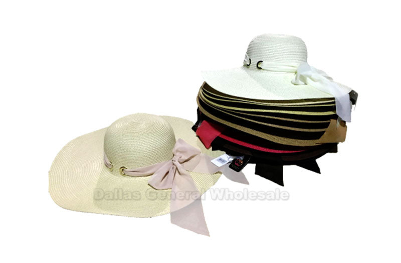 Ladies Fashion Floppy Beach Straw Hats Wholesale - Dallas General Wholesale