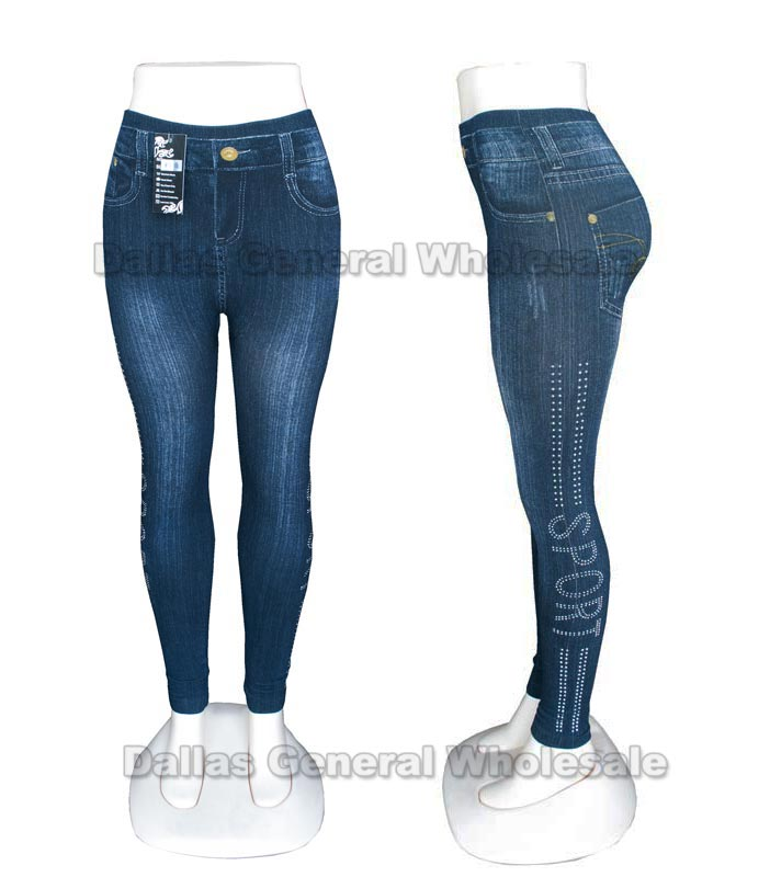 Girls Fashion Pull On Jeggings Wholesale