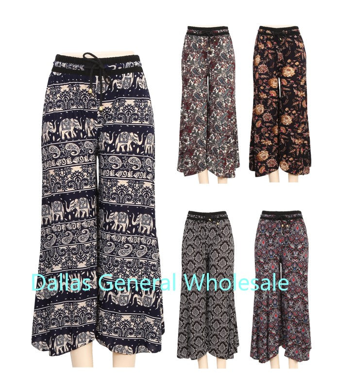 Ladies Fashion Printed Palazzo Pants Wholesale
