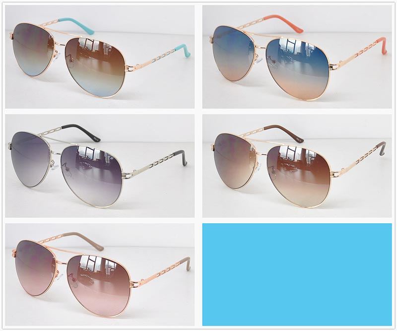 Ladies Aviator Metal Frame Sun Shades Wholesale