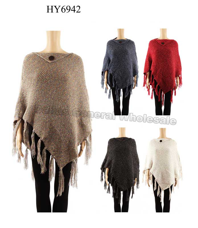Fashion Turtle Neck Sweater Ponchos Wholesale - Dallas General Wholesale
