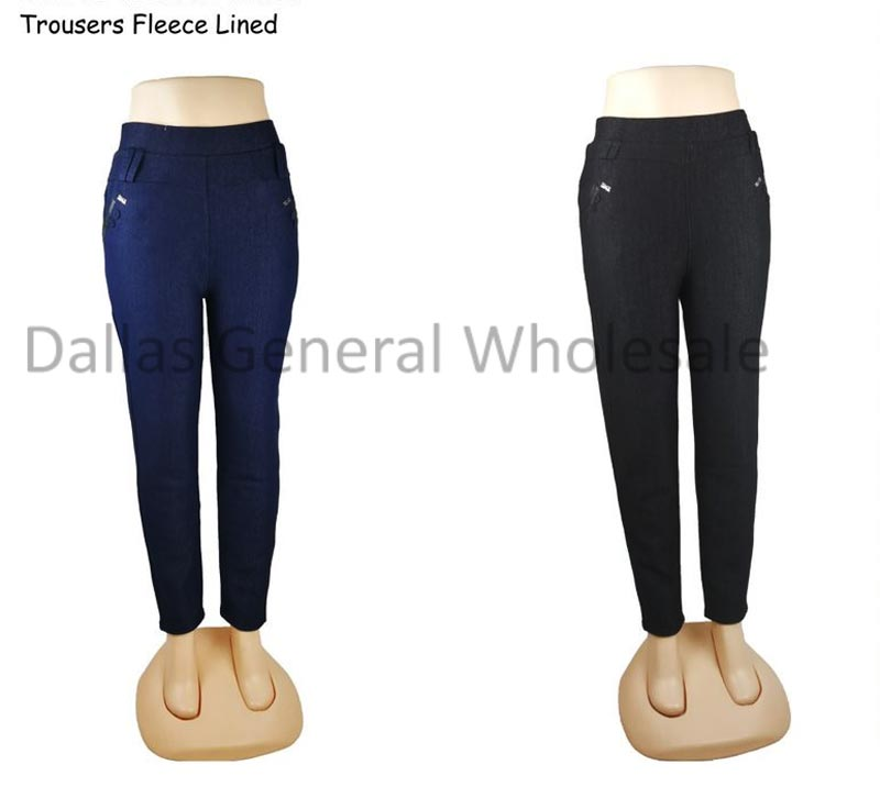 Ladies Fur Lining Trousers Pants Wholesale